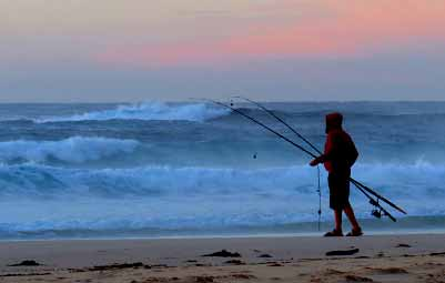 Kioloa Beach fishing